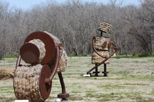 This is what yard art looks like in Texas.