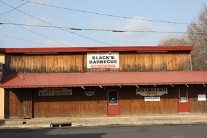 The friendliest BBQ place in town. Good BBQ, too.