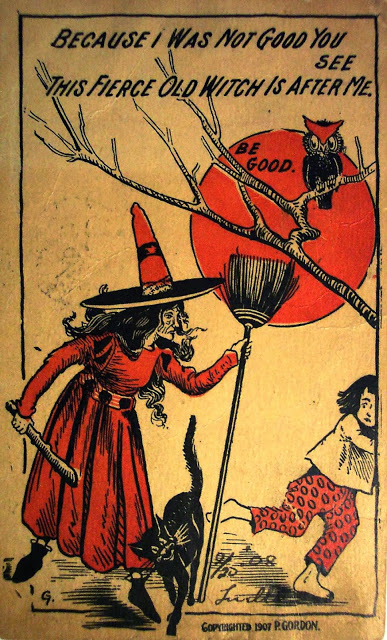 Halloween Witch Postcards c  1900s (2)